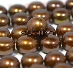 Жемчуг АА полупросверленный Chocolate, 7.5-8мм, шт