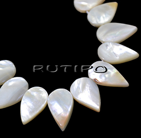 Mother of pearl pendant 14-12*8-6mm, pcs