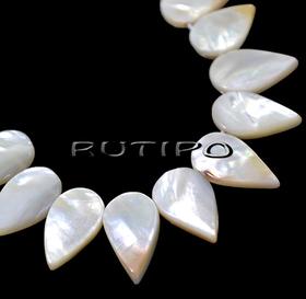 Mother of pearl pendants 20-18*10-8mm, low 34cm (35pcs)