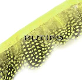 Тесьма цесарка желтая, 10см