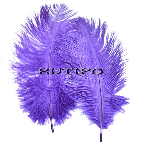 Перо Страуса фіолетове 15-20см, шт