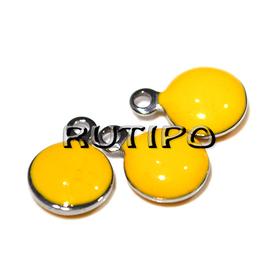 Подвеска желтая, ювелирная сталь, 11*8 мм, шт