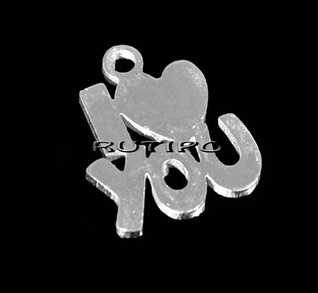 """Подвеска """"I Love You"""" ювелирная сталь, 14*12 мм, шт"""