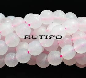 Бусина Розовый кварц матовый 6мм, шт