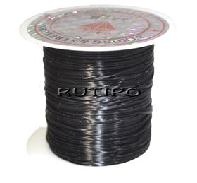 Силиконовая нитка-резинка черная, бобина - 0.8мм*10м