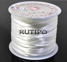 Силиконовая нитка-резинка белая, 0,8мм*1м