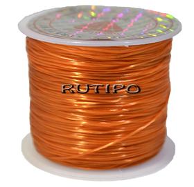 Силиконовая нитка-резинка оранжевая, 0,8мм*1м