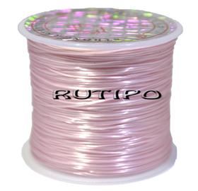 Силиконовая нитка-резинка светло-розовая, 0,8мм*1м