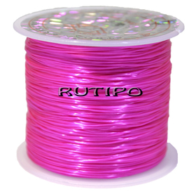 Силиконовая нитка-резинка ярко-розовая, 0.8мм*1м