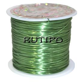 Силиконовая нитка-резинка зеленая, 0.8мм*1м