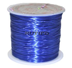 Силиконовая нитка-резинка синяя, 0.8мм*1м