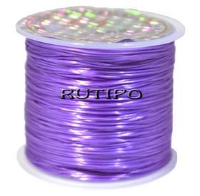 Силиконовая нитка-резинка фиолетовая, 0.8мм*1м