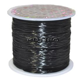 Силиконовая нитка-резинка черная, 0.8мм*1м