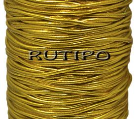 Шляпная резинка под золото, 2мм*1м