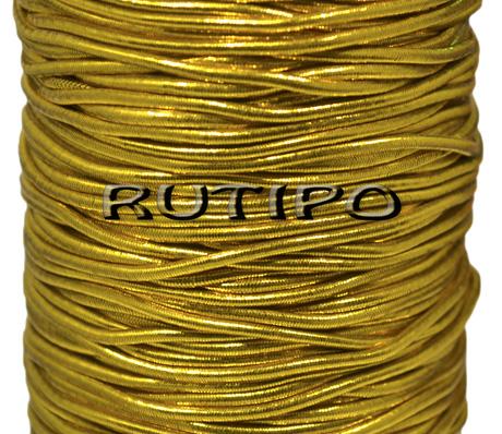 Капелюшна резинка під золото, 2мм * 1м