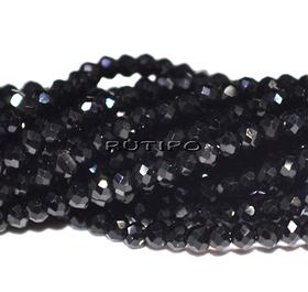 Rondel Black, 2*1.5mm, 245pcs/strand