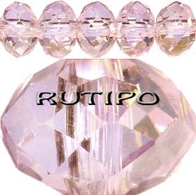 Рондель хрустальный AB Plated Pink 8*6мм, шт