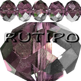 Рондель HalfSilver Purple 6*4мм, 100шт
