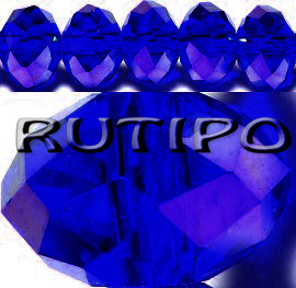 Рондель хрустальный PearlLuster Blue, 8*6мм, шт