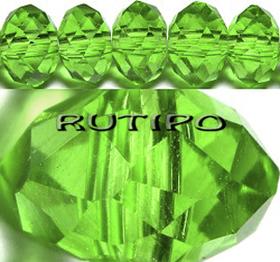 Рондель хрустальный Green 10*8мм, шт