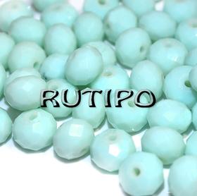 Рондель хрустальный PaleTurquoise 8*6мм, шт