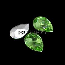 Crystal drop Peridot 10 * 7mm, pcs