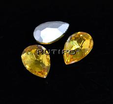 Crystal drop Topaz 10 * 7mm, pcs