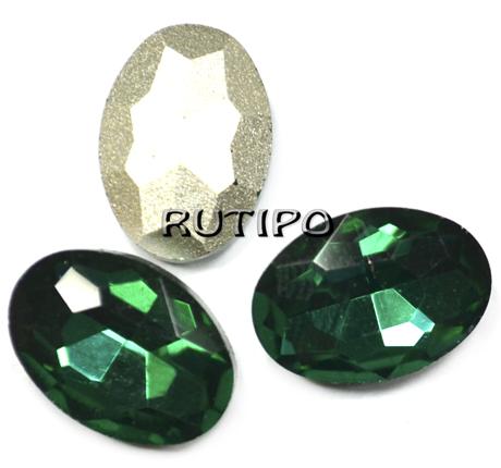 Овал для інкрустації Emerald 14 * 10 * 5мм, шт