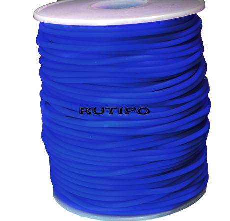 Шнур-трубка PVH Blue, 2 мм, 1м