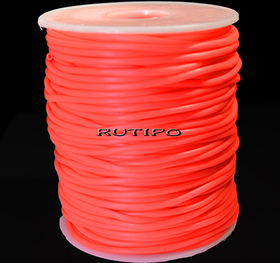 Tube cord PVH OrangeRed, 2mm, 1m