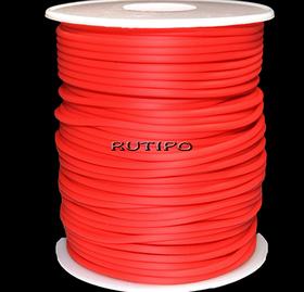 Tube cord PVH Red, 2mm, 1m