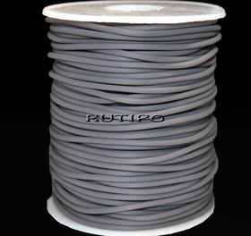 Tube cord PVH Gray, 2mm, 1m
