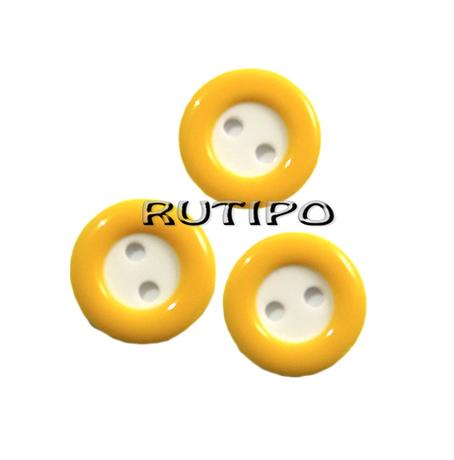 Ґудзик з жовтим обідком, 13мм, 1шт