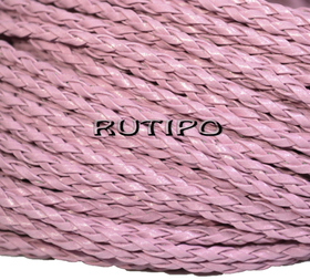 Шнур плетений ПУ шкіра, Pink 3мм, 1м