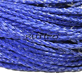 Шнур плетеный ПУ кожа, DarkBlue 3мм, 1м
