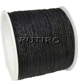 Шнур нейлоновий чорний, 0.8мм, м
