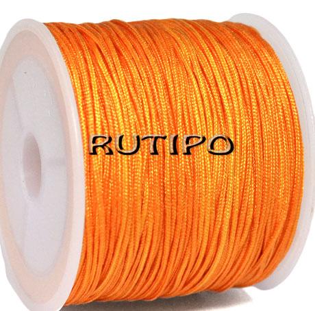 Шнур нейлоновий помаранчевий 0.8мм, м