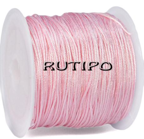 Шнур нейлоновий рожевий 0.8мм, м