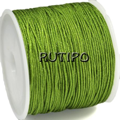Шнур нейлоновий зелений 0.8мм, м