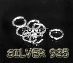 Колечко монтажное серебро925, 5*0.75мм, шт