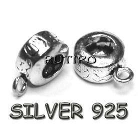 Держатель для подвесок серебро925+родий, 11*4мм, шт