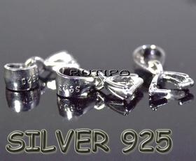 Бейл серебро 925+родий, 10мм, шт