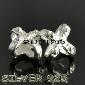 Бусина - протяжка серебро 925, 7*5мм, шт