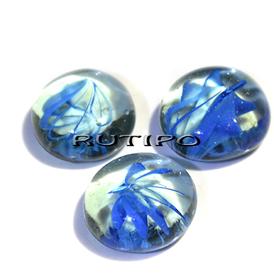 Скляний камінь синій 18-20мм, шт
