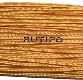 Сутажный шнур желто-оранжевый, 3мм*1м