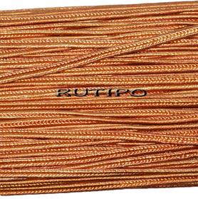 Сутажный шнур темно-оранжевый, 3мм*1м