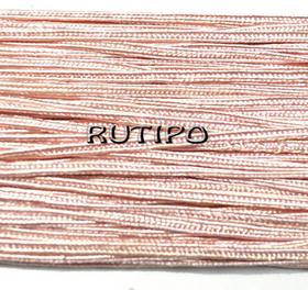 Сутажный шнур пепельно-розовый, 3мм*1м