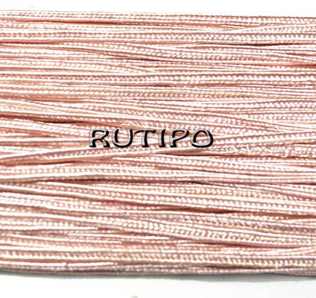 Сутажной шнур попелясто-рожевий, 3мм * 1м