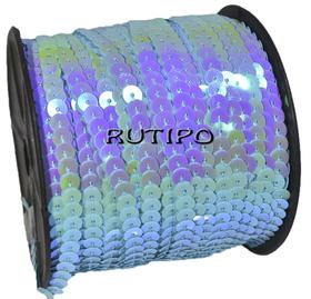 Пайетки на нитке голубые (перламутр), 6мм*1м