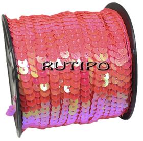 Пайетки на нитке розовые (перламутр), 6мм, бобина